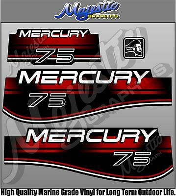 MERCURY 75hp - OUTBOARD DECALS