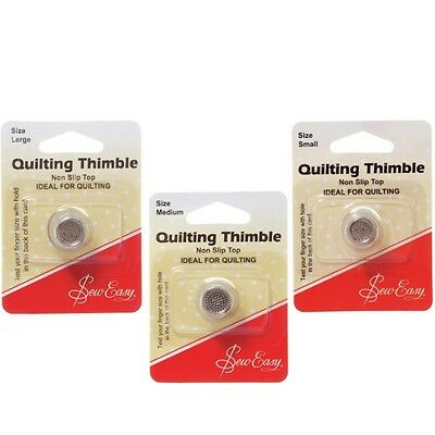 Sew Easy Metal Thimble Non Slip Top Quilting Sewing Craft Hobby