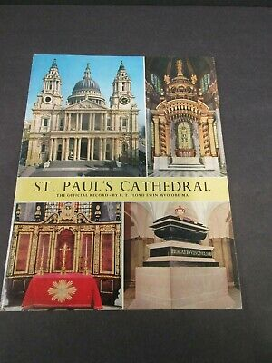 ST. PAUL'S CATHEDRAL The Official Record Visitor's Guide Book Pamphlet 1968 VGC