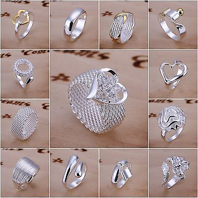 Fashion Women's S925 Silver Forever Ring Jewellery Sterling Silver Wedding Rings