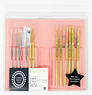 Tulip TCK-004 Classic 4 Crochet Hooks / Race needles 18 pcs set