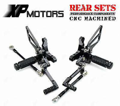 Black CNC Billet Rear Sets Foot Pedals Pegs Rearsets For Ducati 848/1098/1198 R