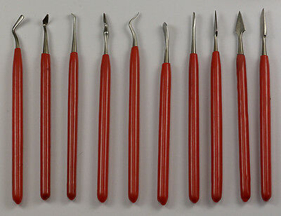 10 x VALUE SET WAX CARVER SET CARVING TOOL METAL CLAY POTTERY SCULPTING CLEAR