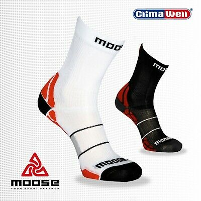 MOOSE RUN Laufsocken mit Kompression Kompressionssocken Sportsocken Silberfaser
