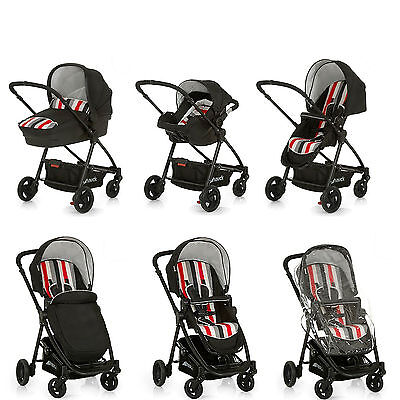 Hauck Rainbow / Black London All In One Travel System Stroller Car Seat Carrycot