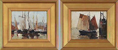A pair of fine Anthony Thieme original Rockport paintings, c1935, signed, framed
