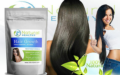 Hair Vitamins - For Longer Thicker Hair - Hair Care Supplement - Hair Growth
