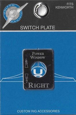 switch plate power window right stainless etch block letter for Kenworth toggle
