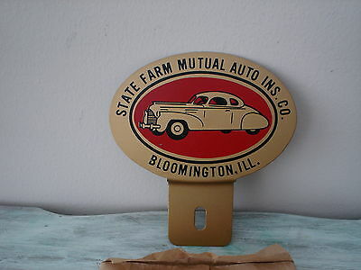 Vintage State Farm Mutual Auto Ins. Co.  License Plate Topper New Old Stock