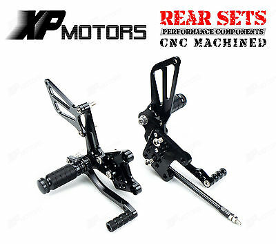 Rearsets Adjustable Footrest Rear Sets For Suzuki SV650 SV650S 1998-2002 Black