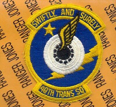 USAF Air Force 49th Transportations Squadron 4 inch patch