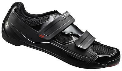 Shimano R065 Mens Gents Road Racing Bike Shoes Velcro Synthetic Leather Cycling