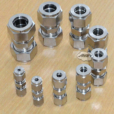 16mm Equal Straight Compression Coupler Pipe Fitting Double Ferrule INTER