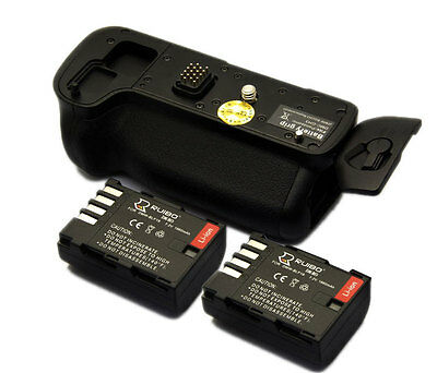 Vertical Pack Grip for Panasonic GH3 GH4 + 2x DMW-BLF19 Battery