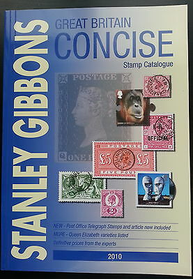 Stanley Gibbons 2010 Great Britain Concise Stamp Catalogue. Unused. RRP £29.95.