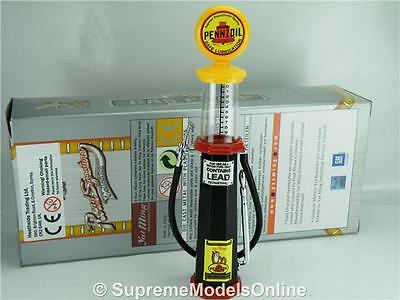 Penzoil Petrol Gas Pump Model 1/18Th Scale Visible Black/yellow Example T312Z(=)