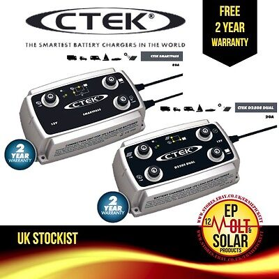 CTEK D250s Dual Charger & SmartPass Combined Set - View Demo Video Here