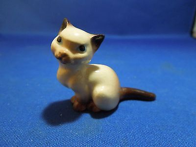 Vintage Hagen Renaker Mini Seated Mama Siamese Cat Miniature Figurine