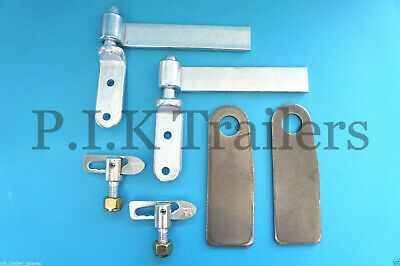 """2 x 6"""" Zinc Plated Tailgate Drop Side Hinge and Antiluce Set"""