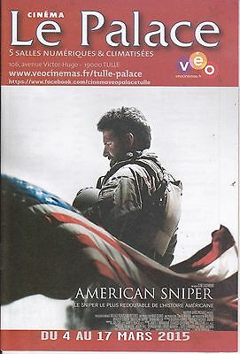 Programme Du Cinema Le Palace -  American Sniper - Bradley Cooper - Neuf