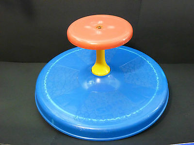 Vintage Sit'n Spin Spinning Action Toy by Playskool Tonka 1973 Blue/ Red/ Yellow
