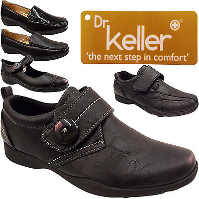 Low Heel Flat Work Comfort Womens Ladies Touch Wide Hard Sole Nurse Shoes Size