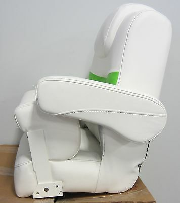 Larson Escape Pontoon Boat New OEM Quality High Back Bucket Captain Seat White