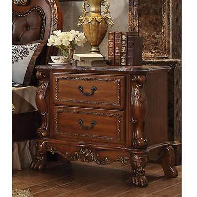 Dresden Antique Bedroom Night Stand Storage Drawers Solid Wood Cherry Oak Claw