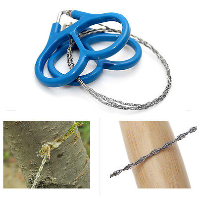 1x Outdoor Steel Wire Saw Scroll  Camping Hiking Hunting Emergency Survival Tool