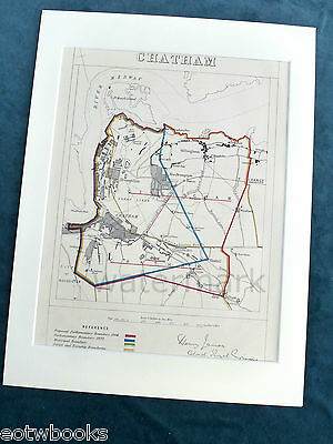 CHATHAM - Antique Map / Plan, in mount,  Boundary Commissioners Report, 1868