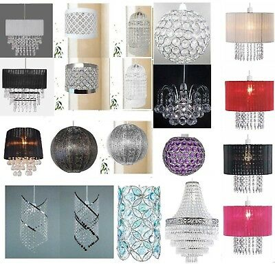 Chandelier Style Ceiling Pendant Light Shade Acrylic Crystal Droplet Bead Beads