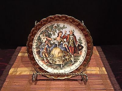 """Taylor Smith Victorian Round plate Royal L B 22 K Gold 7"""""""