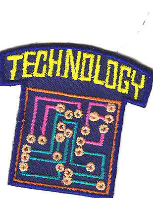 TECHNOLOGY Iron On Patch School Learning Research