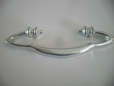 Vintage CHROME DRAWER Pulls Cabinet Door Handles Mid Century Modern Art Deco