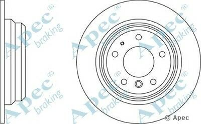 Pair 1x OE Quality Replacement Rear Axle Apec Solid Brake Disc 5 Stud 262mm