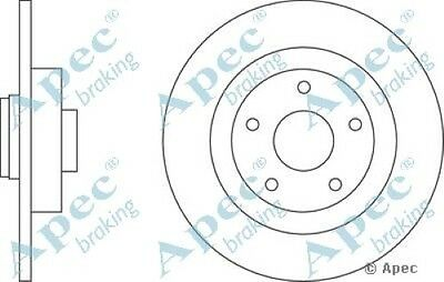 1x OE Quality Replacement Rear Axle Apec Vented Brake Disc 5 Stud 300mm Single