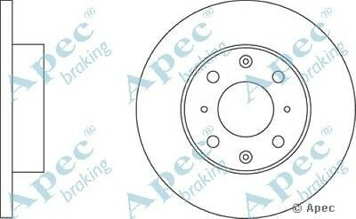 1x OE Quality Replacement Front Axle Apec Solid Brake Disc 4 Stud 238mm - Single