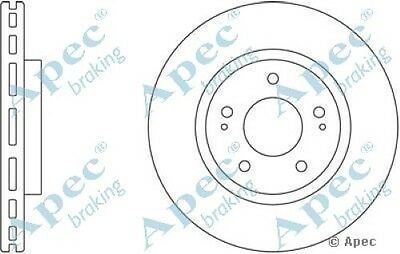 Pair 1x OE Quality Replacement Front Axle Apec Vented Brake Disc 4 Stud 256mm