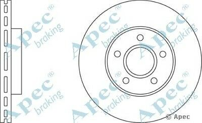 1x OE Quality Replacement Front Axle Apec Vented Brake Disc 5 Stud 278mm - Pair