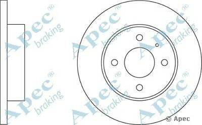 Pair 1x OE Quality Replacement Rear Axle Apec Solid Brake Disc 4 Stud 239mm