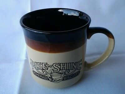 VINTAGE HARDEES 1986 ceramic coffee CUP MUG rise and shine biscuits drinkers