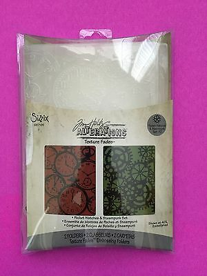 Sizzix Tim Holtz Alterations POCKET WATCHES & STEAMPUNK Embossing Folders