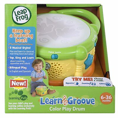 LeapFrog  Learn and Groove Drum  Musical Learning BabyToy NIB NEW