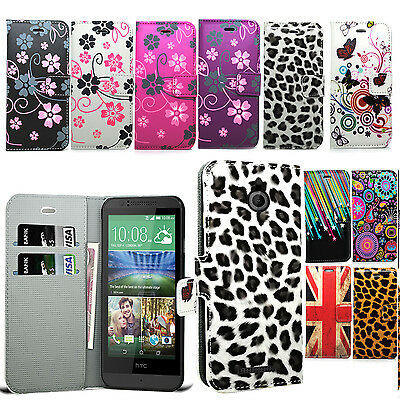 Floral Flower Wallet Case Leather Cover Book For HTC Desire Phone Various Models