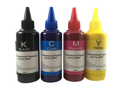 4 Color Anti-UV Pigment Ink for Epson Refillable Cartridge CISS