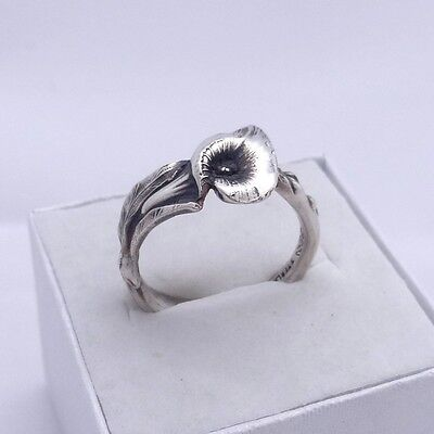 Spoon Ring Reed & Barton Harlequin Floral Sterling Silver Ring Calla Lily