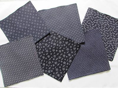 FUROSHIKI 6 pieces Japanese Wrap cloth Navy color series From Japan New