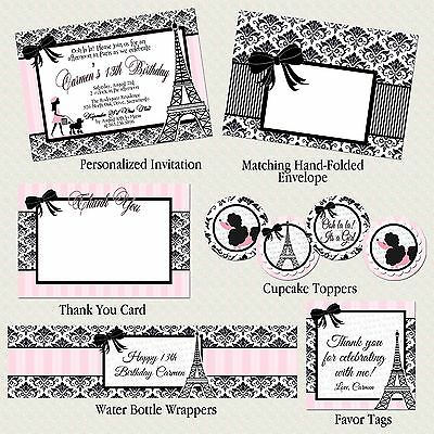 Paris and Poodles Party Package: Invitation, Birthday, Baby & Bridal Shower