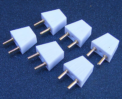 1:12 Scale Dolls House Miniature 6 Male 2 Pin Lighting Plugs Light Accessory