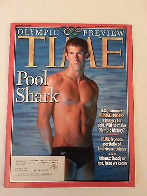 TIME Magazine, Olympic Preview August 9, 2004 Michael Phelps